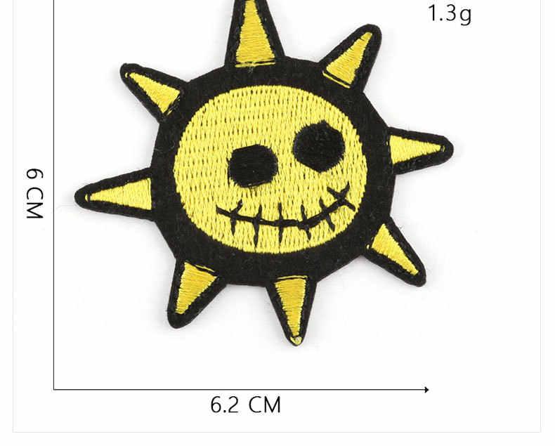 فاسق مقلة العين الجمجمة الميت الهيكل العظمي العظام اليد عظمتان Parches الشمس القمر التصحيح المطرزة الحديد على هالوين سترة السائق سترة