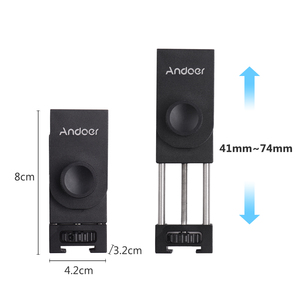 Image 4 - Andoer Metal Tripod Mount Adapter Phone Holder with Cold Shoe Mounting LED Video Light Support Vertical and Horizontal Modes