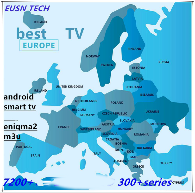 Europe ESUNTV Germany Netherland ESUNTV French ESUNTV Best Stable Series Android M3u Enigma2