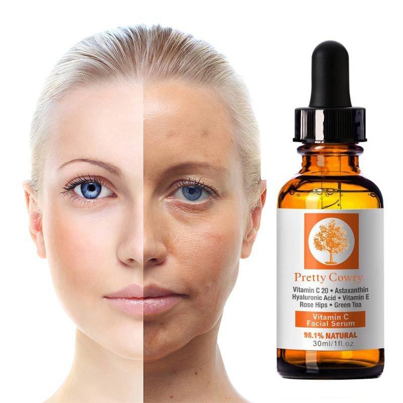 30ml Vitamin C Essence Women Face Skin Care Firming Hyaluronic Acid Serum Anti-Aging Wrinkle Whitening Skin Repair Essence TSLM2