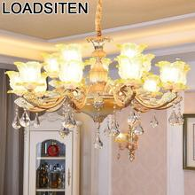 Vintage Light Nordic Lustre Lampadari Moderni Chandelier Loft Crystal Lampen Modern Suspension Luminaire Hanging Lamp
