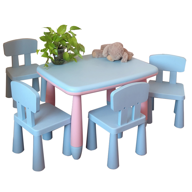 Tables And Chairs The Kindergarten Children Desk And Chair Baby Learning Table Table, Plastic Table Game Toy Suit