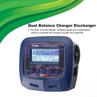 SKYRC D100 V2 Charger Dual Output Intelligent Balance Charger Discharger English Voice Charge LiFe LiIon LiHV NiMH NiCd LiPo