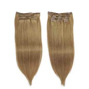 Isheeny Remy clip hair extension 8pcs/set Seamless Natural Human Hair Clip Extensions Full Head Brazilian Pure Color Clip Ins - DISCOUNT ITEM  54% OFF All Category