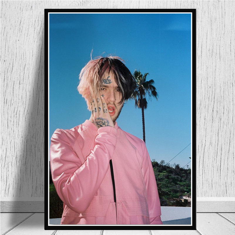 Poster Hot Lil Peep R.I.P Rapper Hip Hop New Music Singer Star Wall Art Canvas Painting Pictures For Living Room Home Decor