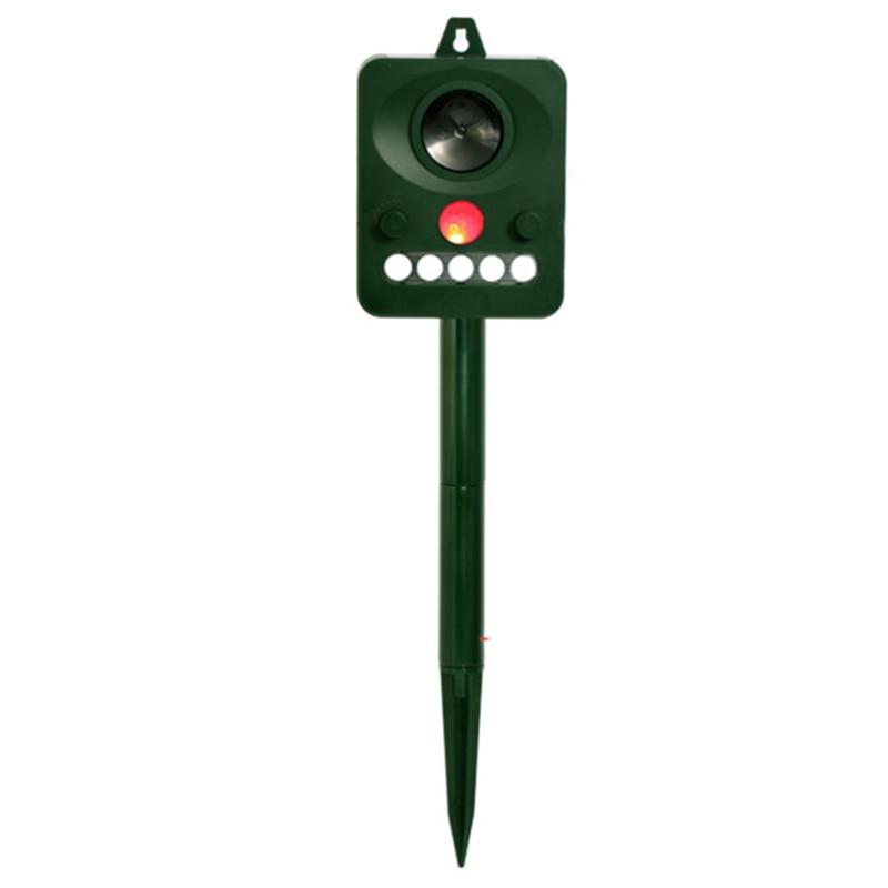 AAY-Ultrasonic Repellent Bird Repellent Outdoor Camping Animal Repellent Garden Outdoor Deworming Infrared Light Flashing Sound