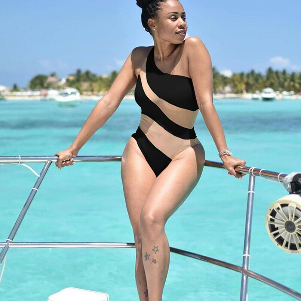 2019 Fashion Trend Women's One Piece Beach Swimsuit Swimwear Bathing Monokini Push Up Padded Bikini Hot Summer Sexy Holiday Wear-3