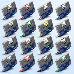 20color 6/9/12mm Tape TZe-231 TZe 231 TZe-221 TZe-211 TZe-131 TZe-431 TZe-531 TZe-631 Label Tape For Brother P touch Label Maker