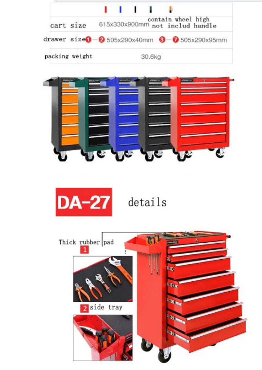 Tool Chest Removable Keyed Locking System Toolbox Organizer