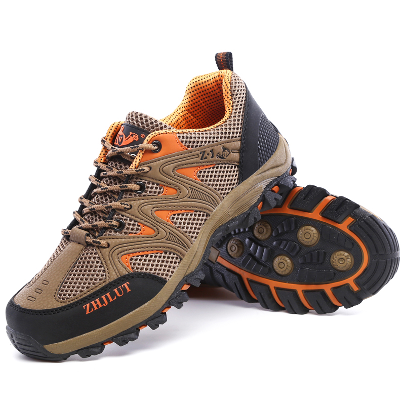 Image 3 - Men Mesh Casual Shoes Women Outdoor Sports Breathable Summer Wear Resisting Trekking Footwear Climbing light hiking Shoes ManMens Casual Shoes   -