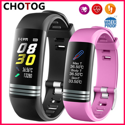 2020 Smart Band Watch Men Women Body Temperature Fitness Bracelet Pedometer Blood Pressure Heart Rate Monitor Smart Bracelet