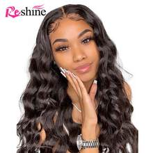 Body Wave 360 Lace Frontal Wig Pre Plucked With Baby Hair Reshine 150 Density Lace Front Human Hair Wigs For Women Body Wave Wig(China)