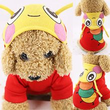 Pet dog winter insect print hooded clothes pet dog long sleeve top For Small Large Large Dog Coat animale domestico 2019#5(China)