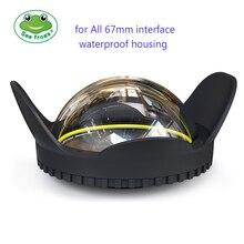 Filtro de lente de ojo de pez óptico antireflectante para todas las cámaras DSLR ILDC Microspur 67mm interfaz 0,7 de ángulo de amplificación