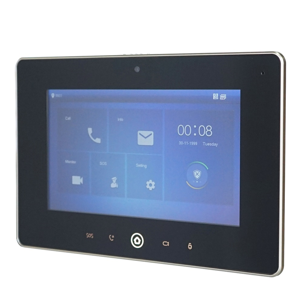 DH Logo Multi-Language VTH5221D 7inch Indoor Monitor,Build-in Camera, SIP Firmware, IP Doorbell, Video Intercom,wired Doorbell