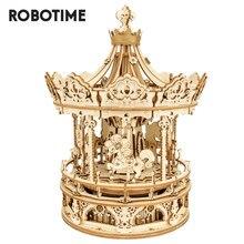 Robotime Rokr boîte à musique 3D jeu de Puzzle en bois assemblage modèle Kits de construction jouets pour enfants enfants cadeaux d'anniversaire