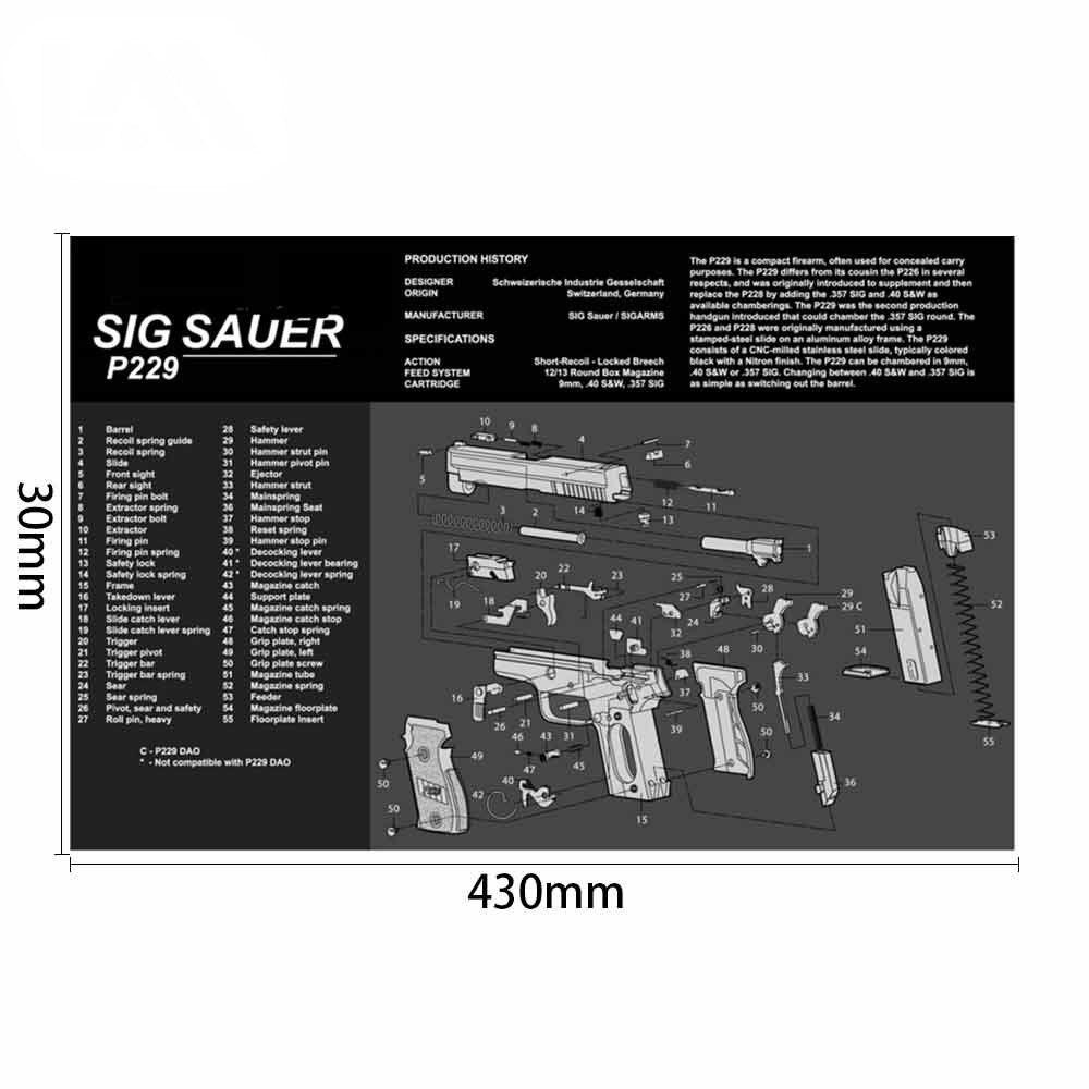 peças e instruções para glock ar15 ak47 sig sauer p226