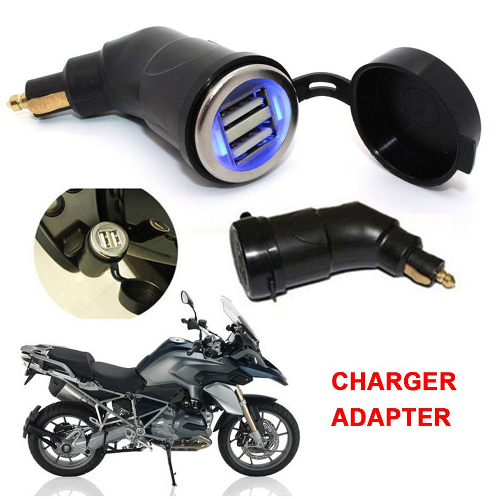 Cigarette <font><b>Charger</b></font> Dual <font><b>USB</b></font> Phone MP4 GPS Tablet For <font><b>BMW</b></font> R1200GS R1200RT F800 GS F800GS F650GS F700GS F650 GS R 1200 RT ADV image