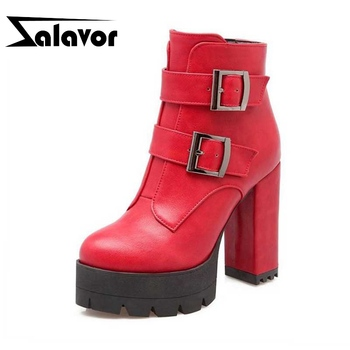 ZALAVOR Size 32-43 Women Boots High Heel Ankle Boots Fur Winter Warm Shoes Woman High Platform Boots Fashion Footwear