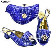 Комплект и итальянских туфель и сумочки для вечерние вечеринки, итальянский комплект из обуви и сумки оптом дизайнерские Роскошная обувь Для женщин