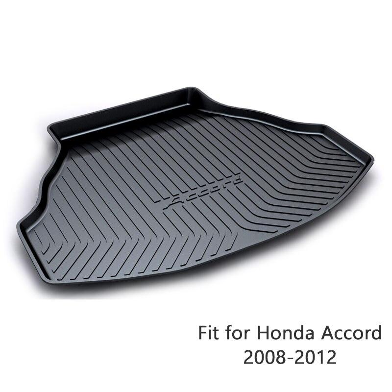 For Honda Accord 2008 2009 2010 2011 2012 Boot Liner Waterproof Anti-slip Mat Accessories 1Set Car Cargo Rear Trunk Mat