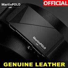 MartinPOLO עסקי גברים של עור חגורות אוטומטי סגסוגת אבזם עור פרה רצועת זכר עור אמיתי חגורת גברים MP01401P