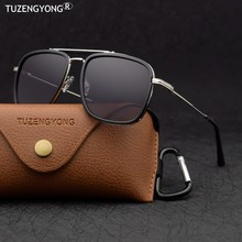 Tuzengyong 2021 nova steampunk óculos de sol polarizados das mulheres dos homens marca designer vintage óculos de sol alta qualidade uv400 óculos de sol
