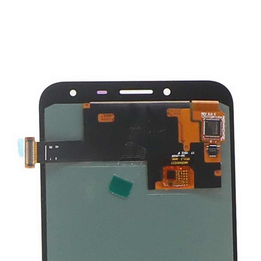 100% اختبار شاشات lcd لسامسونج غالاكسي J4 J400 J400F J400G/DS SM-J400F عرض مجموعة المحولات الرقمية لشاشة تعمل بلمس مع ضبط سطوع