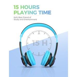 Image 4 - Mpow CH9 เด็กบลูทูธหูฟังชุดหูฟังพร้อมไมโครโฟน LED Light 85dB จำกัดสำหรับเด็กวัยรุ่น
