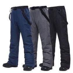 Большие размеры, лыжные брюки для мужчин-30 температура, высокое качество, ветрозащитные водонепроницаемые теплые зимние брюки, зимние лыжн...