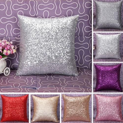 Подушка для дивана с блестками 40x40, Пыленепроницаемая, украшение для дома, модный Европейский Текстиль для дома