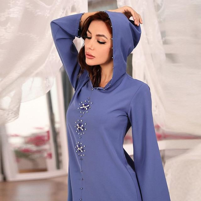 Eid Kaftan Dubai Abaya Turkey Muslim Hijab Dress Robe Musulman Djellaba Femme Ramadan Islam Clothing Dresses Abayas For Women 1