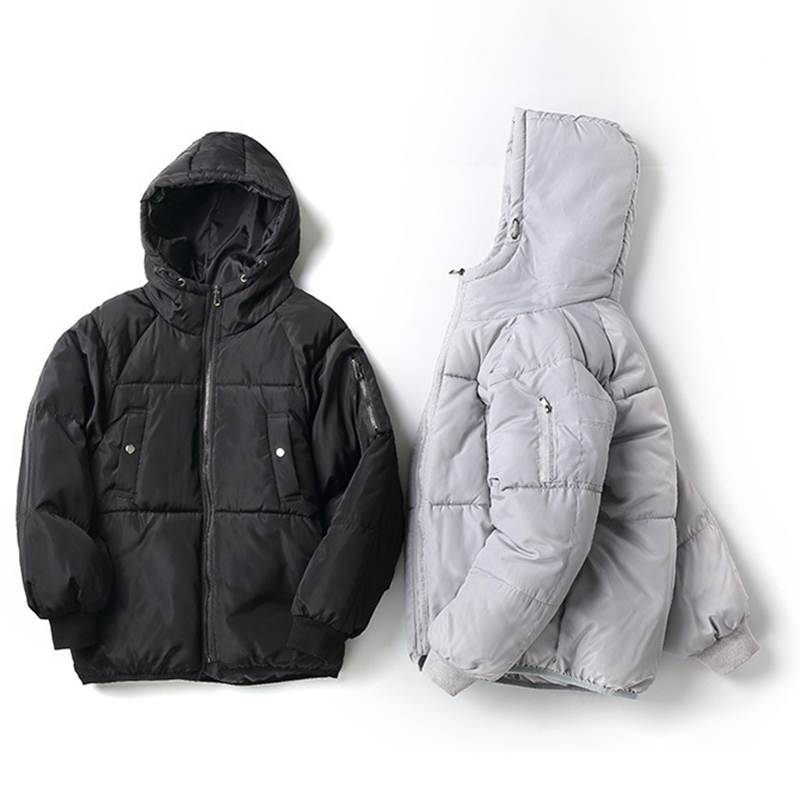 Men Parkas Jacket Hooded Thick Winter Casual Zip S-3XL