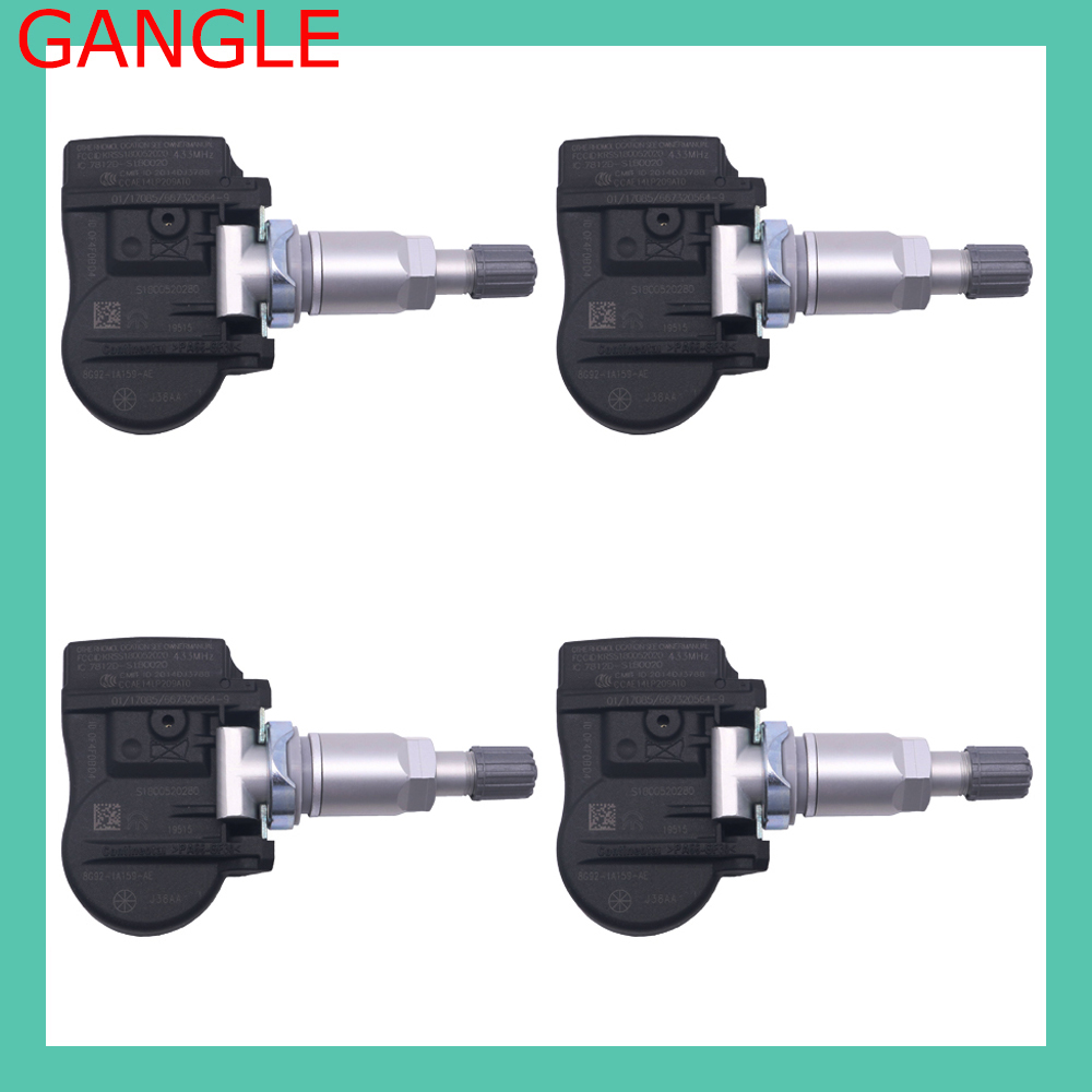 4PCS FOR 2006-2015 FORD GALAXY Tyre Pressure Sensor TPMS 433MHz 8G92-1A159-AE 8G92-1A189-KB