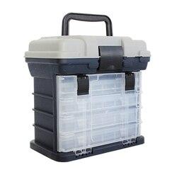 5 warstwa PP + ABS sprzęt wędkarski Box jakości uchwyt z tworzywa sztucznego pudełko rybackie karpia narzędzia połowowe akcesoria wędkarskie w Skrzynie wędkarskie od Sport i rozrywka na