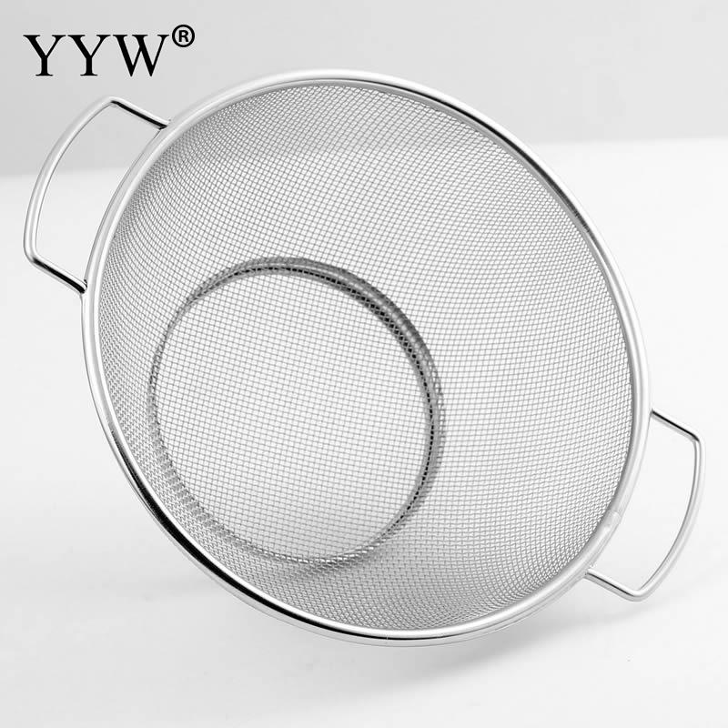 Kitchen Accessories Stainless Steel Fried Food Fishing Oil Scoop Antirust Filter Drain Basket Device Stent For Kitchen Tools in Colanders Strainers from Home Garden