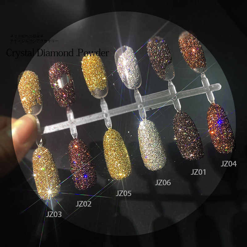 1 Pcs Kawaii Hitam Mengkilap Kuku Glitter Set Bubuk Laser Gemerlapan Kuku Seni Chrome Pigmen Perak DIY Kuku Seni Dekorasi kit JZ02