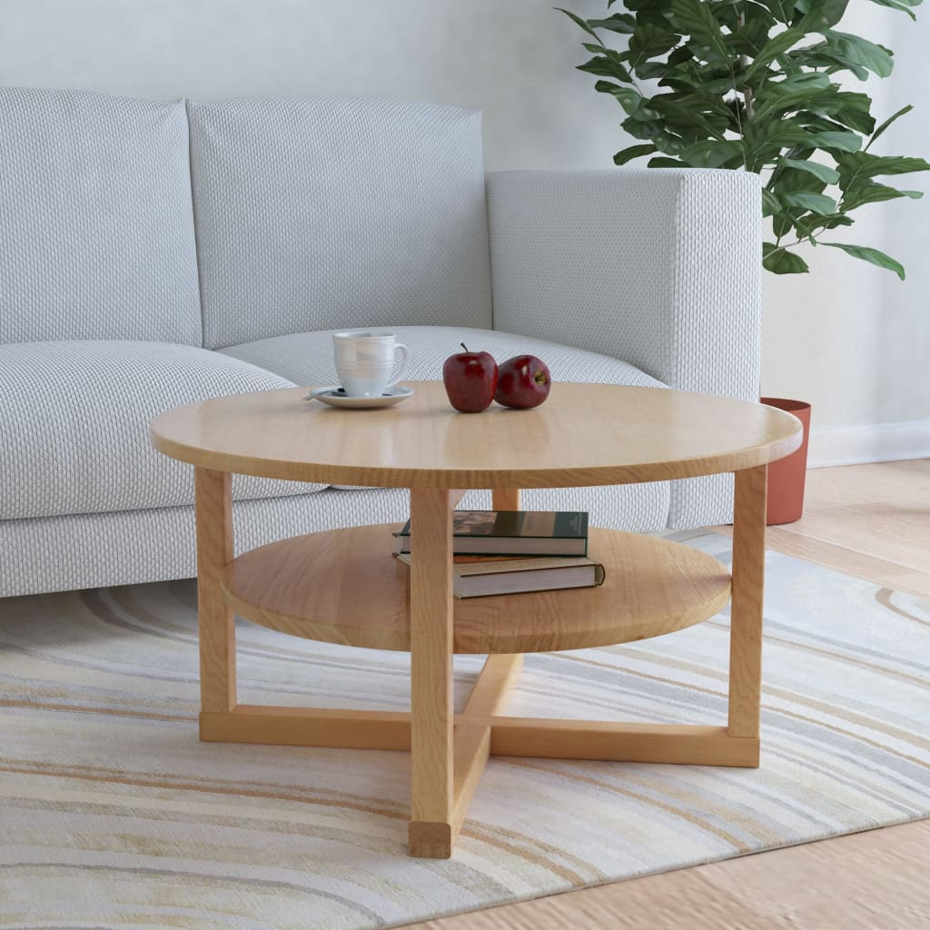 VidaXL Coffee Table 75x40 Cm Solid Oak Wood