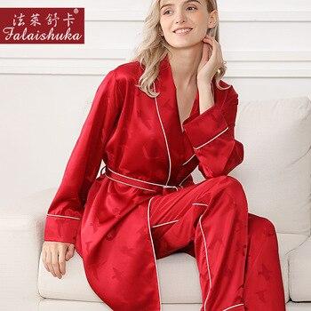 19 momme Quality 100% silk women robe pajamas sets long sleeves trousers elegant pure color women pyjamas sleepwear S5630