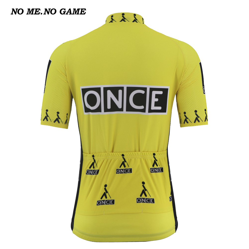 Image 3 - Custom cycling jersey retro men tops pro yellow black kits tour mtb road bike wear clothing Quick Dry Anti sweat 100% Polyester-in Cycling Jerseys from Sports & Entertainment