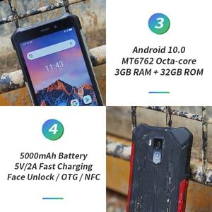 Image 4 - Ulefone Armor X5 Smartphone MT6762 Octa Core IP68 Waterproof Android 10 Face Unlock 3GB 32GB OTG NFC 4G LTE Global Version Phone