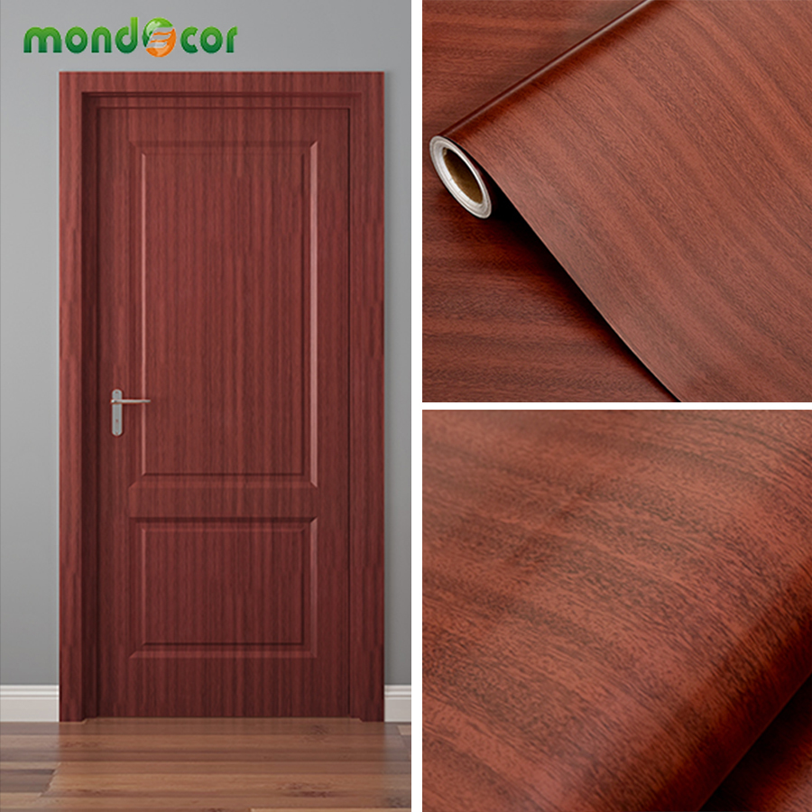 Wooden Grain Waterproof Wallpaper Oil-proof Removable Self-adhesive Stickers For Kids Room Peel And Stick Wall Papers Home Decor