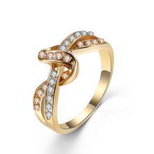 Новейшее двухцветное кольцо с цирконом и бантом большое современное