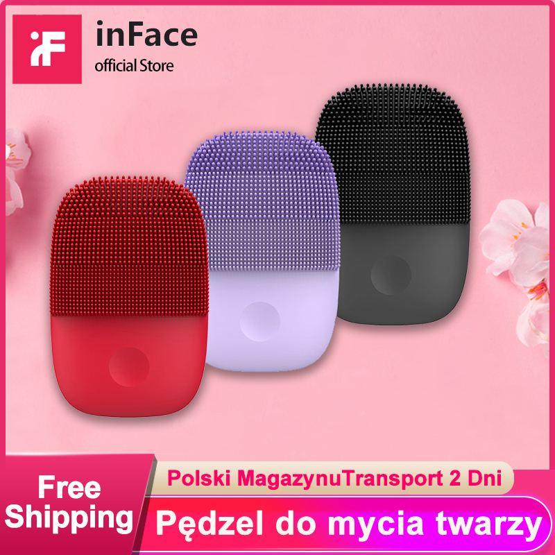 Inface Facial Cleansing Brush Upgrade Version Mijia Electric Sonic Face Brush Deep Cleaning Waterproof  Tool Xiaomi Supply Chain