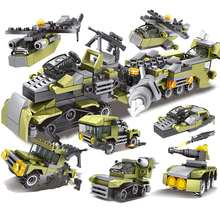296Pcs 6in1 Military Swat Soldier with Army Weapons Building Blocks For Birthday Present Educational Toys For Children #E new building blocks ninja emmet wyldstyle sheriff gordon zola bad cop robo swat brick toys for children l009 016