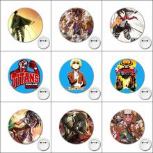 1pcs Hot anime Attack on Titan Cosplay Badge Brooch Pins Icons Badge Decoration Cartoon Badges Button Clothes Accessories