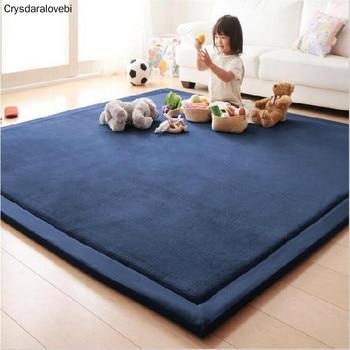Thick 3CM Coral Fleece Velvet mat bedroom carpet Baby play mat living room bed rug large size Kid mat