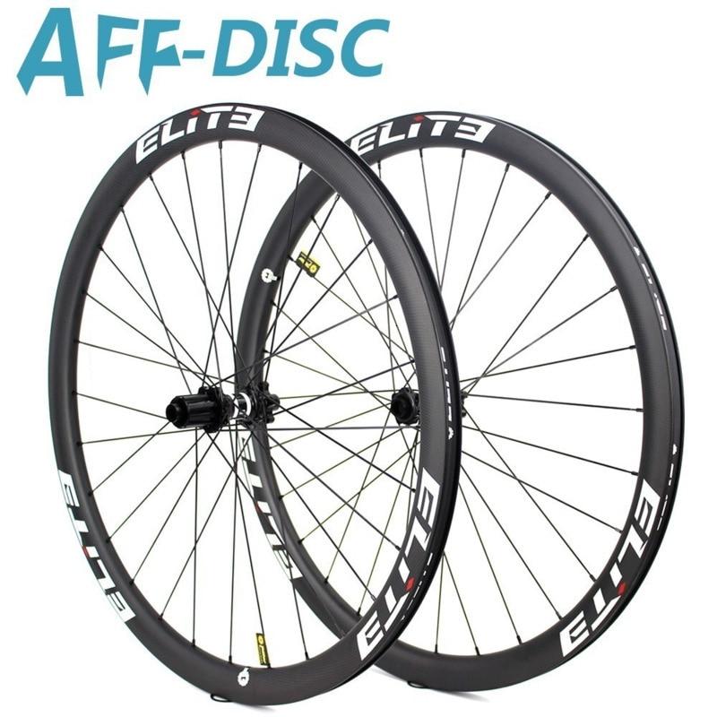 Elite 700c Wheelset Road Bike Carbon Wheels 30/38/47/50/60/88mm DT Swiss 350 Hub With Pillar 1423 Spoke Sapim Secure Lock Nipple