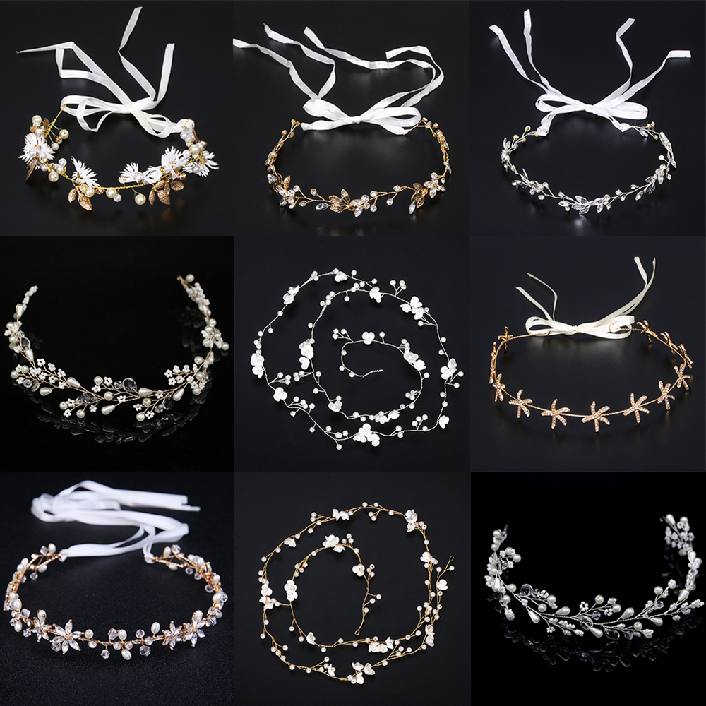 Fashion Pearl Crystal Headbands Wedding Hair Accessories Bridal Crystal Crown Headpiece Bridal Hair Accessories Jewelry
