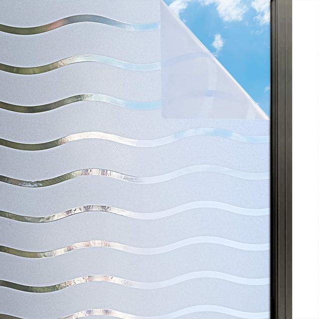 Window Privacy Film  Frosted Static Decoration Films Self Adhesive Glass Sticker UV Blocking Heat Control Window Sticker 1
